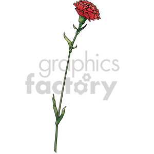 red flower clipart. Royalty-free image # 151111