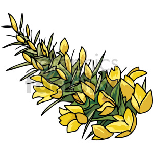 flower bush clipart. Royalty-free image # 151127