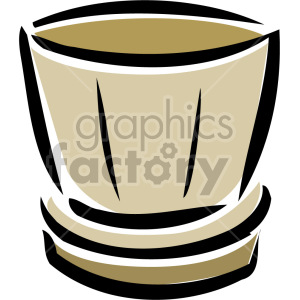 cartoon flower pot clipart. Royalty-free image # 151185