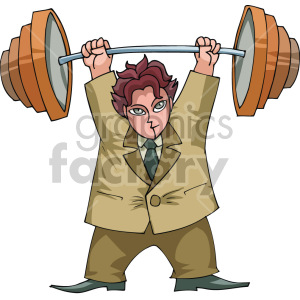 man lifting weights clipart. Royalty-free image # 155319