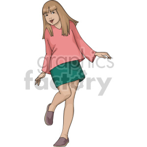 young girl clipart. Royalty-free image # 155383