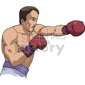 boxer throwing a punch clipart. Royalty-free image # 168747