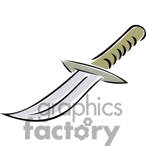cartoon knife clipart. Royalty-free image # 173714