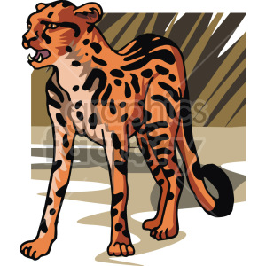 image of a leopard  clipart. Commercial use image # 129266