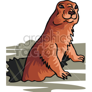 groundhog  clipart. Commercial use image # 129302