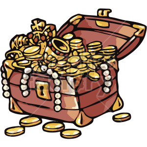 cartoon treasure chest clipart. Royalty-free image # 407791