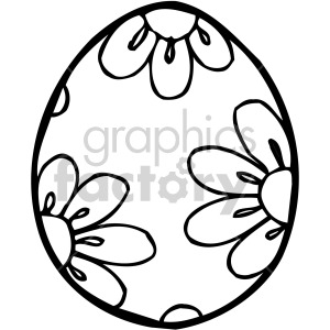 easter egg 006 bw clipart. Royalty-free image # 407845