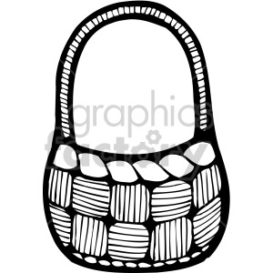 easter basket 002 bw clipart. Commercial use image # 407861