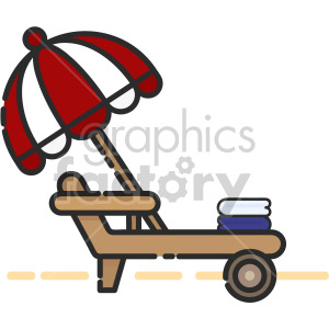 Lounge Chair clipart. Royalty-free image # 407952