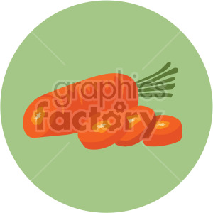 sliced carrot with circle background clipart. Commercial use image # 407983