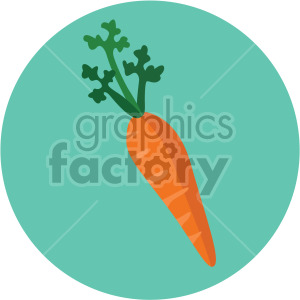 carrot with circle background clipart. Royalty-free image # 407992
