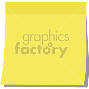 sticky note no background clipart. Royalty-free image # 408113