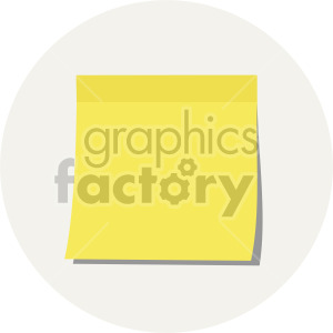 sticky note on light background clipart. Royalty-free image # 408115