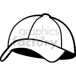 black white baseball hat no background clipart. Royalty-free icon # 408182