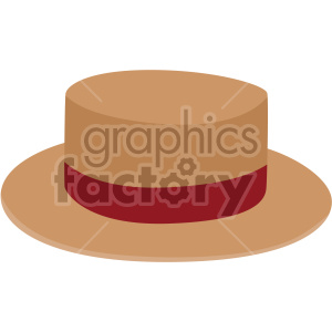 boater hat no background clipart. Royalty-free image # 408185