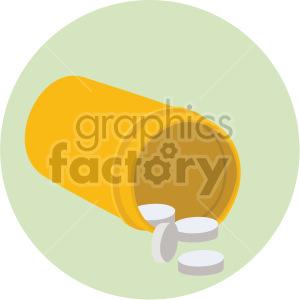 spilled medication bottle on green background clipart. Commercial use image # 408197