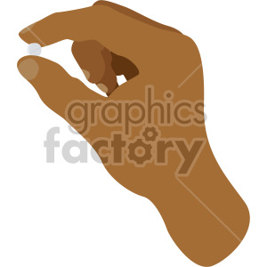 african american hand holding pill no background clipart. Commercial use image # 408201