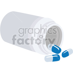 spilled pill bottle no background clipart. Commercial use image # 408204