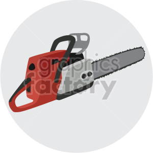 chainsaw on circle background clipart. Commercial use image # 408274
