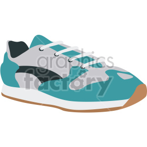 aqua walking shoe clipart. Royalty-free image # 408332