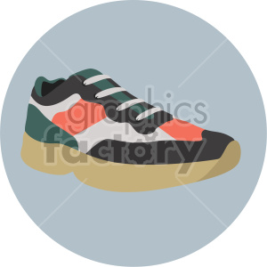 tennis shoe with circle background clipart. Commercial use image # 408354