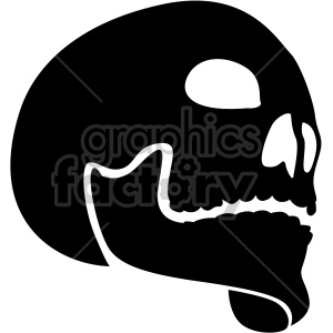 skull three quarter view clipart. Royalty-free image # 408363