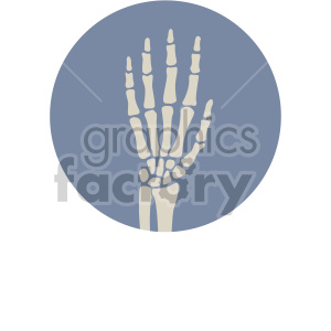 skeleton hand on circle background clipart. Commercial use image # 408366