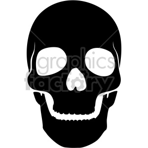 front facing skull clipart. Royalty-free image # 408380