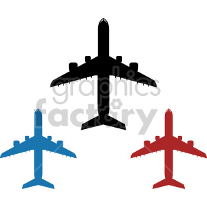 set of airplanes clipart. Royalty-free icon # 408432