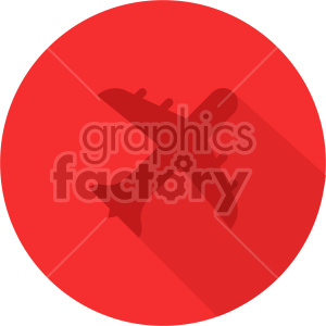 commercial airplane red icon clipart. Royalty-free image # 408439