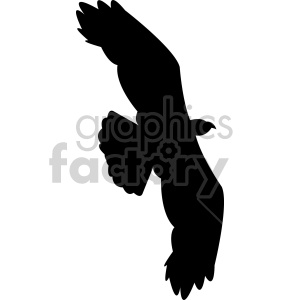 large eagle silhouette vector clipart. Royalty-free image # 408489