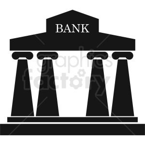 bank design vector clipart. Commercial use image # 408494
