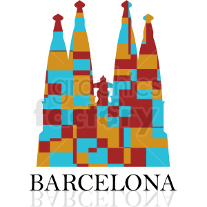 barcelona colorful label vector clipart. Royalty-free image # 408502