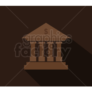 bank vector icon on dark background clipart. Royalty-free image # 408537