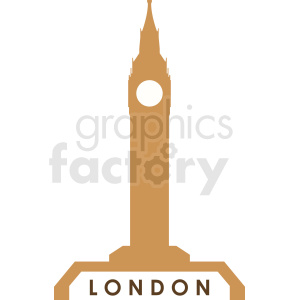 big ben building vector logo design clipart. Royalty-free image # 408564