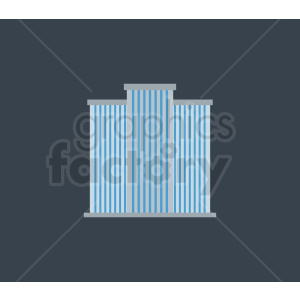 vector hotel building on dark background clipart. Commercial use image # 408609