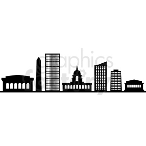 black washington city skyline vector design no label clipart. Commercial use image # 408647