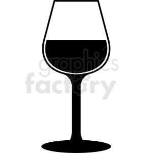 wine glass silhouette vector clipart. Commercial use image # 408652