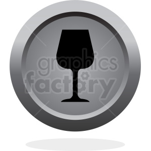 beverage glass vector button icon clipart. Royalty-free image # 408654