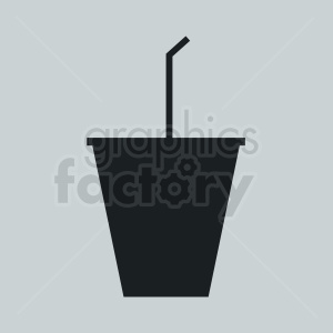 soda cup with straw on light background