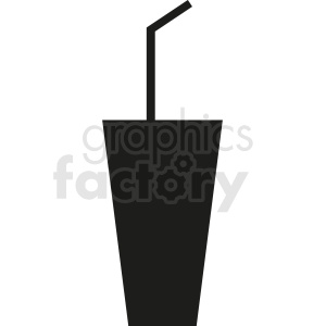 cup with straw clipart. Royalty-free image # 408669