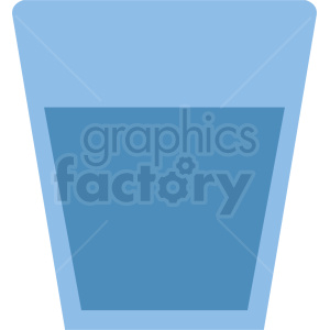 cup of water icon clipart  Royalty-free clipart # 408672