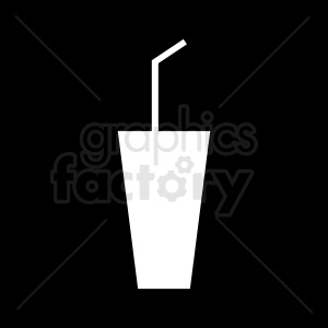 cup with straw design on black background clipart. Royalty-free image # 408674