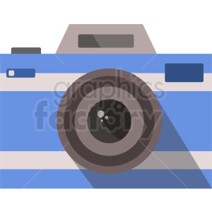 blue vector camera icon clipart. Commercial use image # 408718