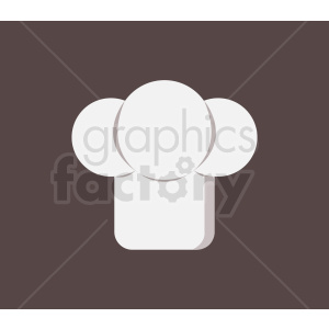chef hat vector icon on brown background