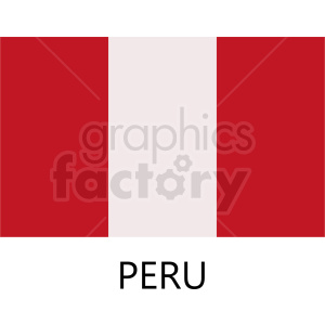 peru flag design clipart. Royalty-free image # 408749