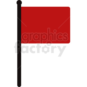 red flag vector icon clipart. Royalty-free image # 408834