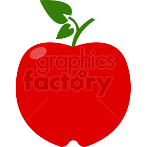 red apple clipart. Royalty-free image # 408874