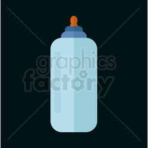 cartoon baby bottle on dark background clipart. Royalty-free image # 408884