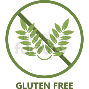 green gluten free symbol no background clipart. Royalty-free image # 408914